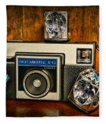 Camera - Kodak Instamatic Fleece Blanket
