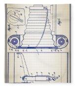 Camera Patent Fleece Blanket
