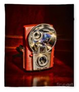 Camera - Vintage Brownie Starflash Fleece Blanket