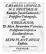 Camerarius Title Page, 1694 Fleece Blanket