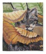 Camo Cat Fleece Blanket