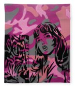 Camo Girl Series Warhol V Lichtenstien Fleece Blanket