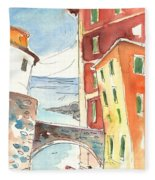 Camogli In Italy 04 Fleece Blanket