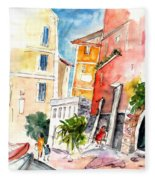 Camogli In Italy 13 Fleece Blanket