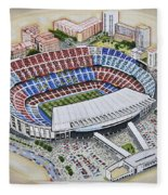 Camp Nou - Barcelona Fc Fleece Blanket