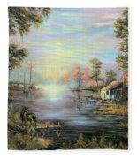 Camp On The Bayou Fleece Blanket