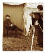 Camp Photographer Fleece Blanket