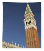 Campanile In Venice Fleece Blanket