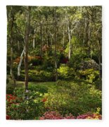 Campbell Rhododendron Gardens 2am 6831-6832 Panorama Fleece Blanket