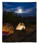 Campfire And Moonlight Fleece Blanket