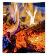 Campfire, Lapland Sweden Fleece Blanket