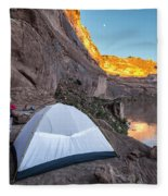 Camping Along The Labyrinth Canyon Fleece Blanket