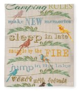 Camping Rules-c Fleece Blanket