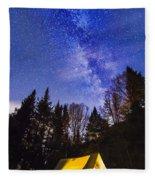 Camping Under The Milky Way Fleece Blanket