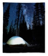 Camping Under The Stars Fleece Blanket