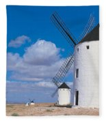 Campo De Criptana La Mancha Spain Fleece Blanket