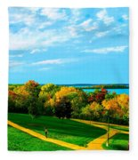 Campus Fall Colors Fleece Blanket