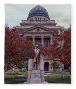 Campus Of Texas Am Fleece Blanket