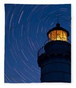 Cana Island Lighthouse Solstice Fleece Blanket