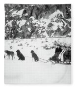 Canada Dog Sled, C1910 Fleece Blanket