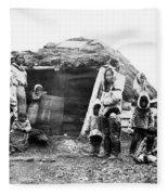 Canada Eskimo Family, 1860 Fleece Blanket