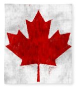 Canada Flag Fleece Blanket