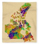 Canada Watercolor  Fleece Blanket
