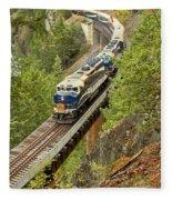 Canadan Railroad Above The Cheakamus River Fleece Blanket