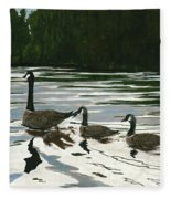 Canadas On Wilson Lake Nc Fleece Blanket