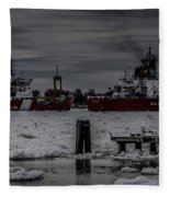 Canadian And United States Icebreakers Fleece Blanket