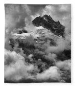 Canadian Coastal Mountains - Tantalus Mountains Fleece Blanket