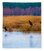 Canadian Flight Fleece Blanket