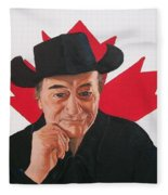 Canadian Icon Stompin' Tom Conners  Fleece Blanket