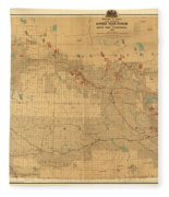 Canadian Mounted Police Map Fleece Blanket