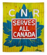Canadian National Railway Stamp Fleece Blanket