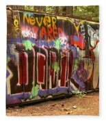 Canadian Pacific Train Wreck Graffiti Fleece Blanket
