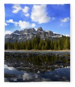 Canadian Rockies 8 Fleece Blanket