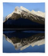 Canadian Rockies Mount Rundle 1 Fleece Blanket