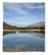 Canadian Rocky Mountains With Lake  Fleece Blanket