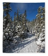 Canadian Winter Wonderland.. Fleece Blanket