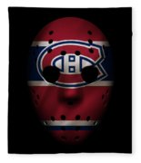 Canadiens Jersey Mask Fleece Blanket