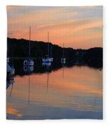Canal Calm Fleece Blanket