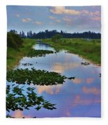 Canal In The Glades Fleece Blanket