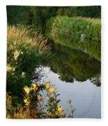 Canal Reflections Fleece Blanket