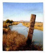 Canal View  Mesilla Fleece Blanket