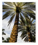 Canary Island Date Palms Fleece Blanket
