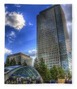 Canary Wharf Station London Fleece Blanket