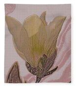 Canary Yellow Magnolia Fleece Blanket
