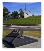Canberra - Memorial And Parliament House Fleece Blanket