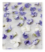 Candied Violets Fleece Blanket